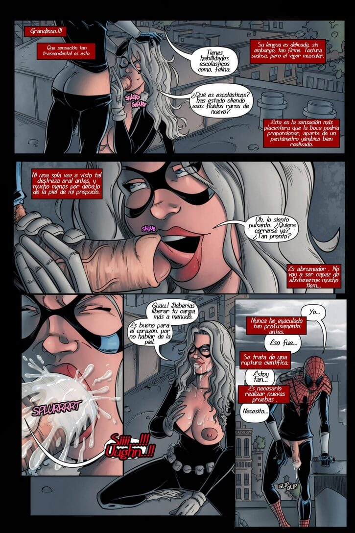 Spiderman and black cat porn