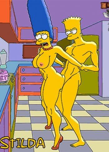 Bart and Marge Simpson – Bustilda